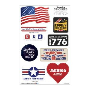 America Sticker Sheet/ 11 Stock Shapes (7